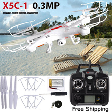New Arrival X5C-1 2.4G 4CH 6-Axis Professional Aerial RC Helicopter Quadcopter Toys Drone With 0.3MP HD Camera Kids Gifts
