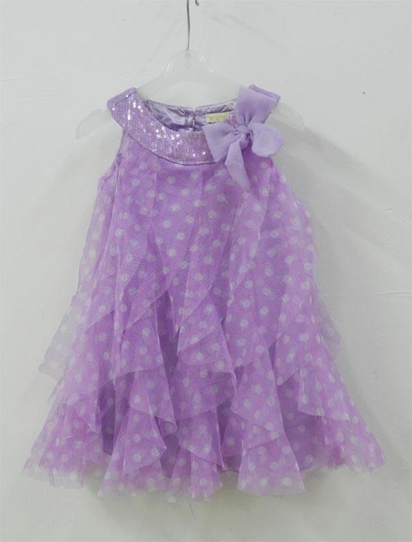 Brand place sequins summer style princess tutu dress vestidos infantis baby girl lace voile Polka Dot party dresses kids clothes(China (Mainland))