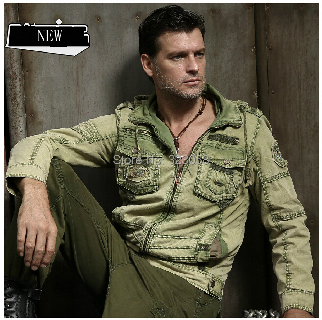 Autumn and winter mens military jacket Camouflage outerwear outdoor tooling jacket(China (Mainland))