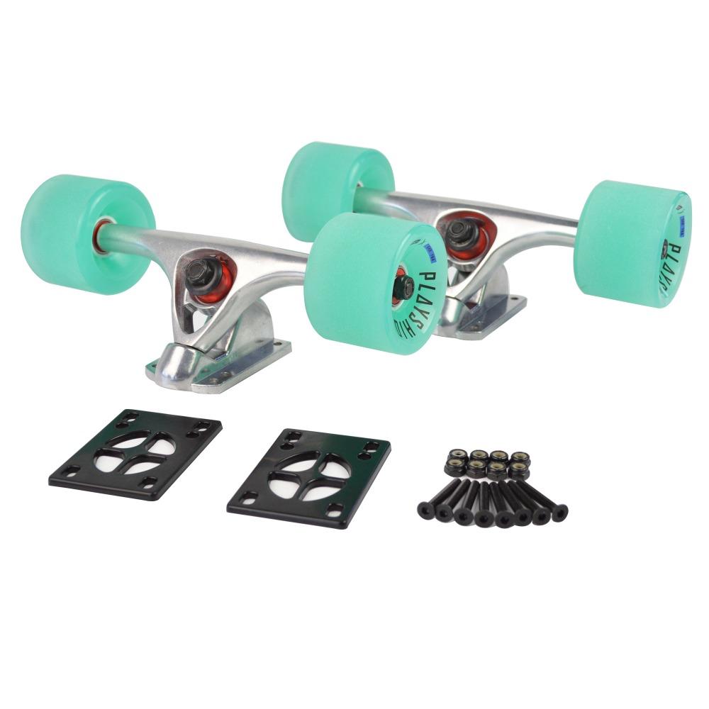 "Longboard Skateboard Trucks Combo set w/70mm Wheels + 7"" Truck Package(China (Mainland))"