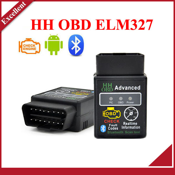 New arrival HH OBD MINI ELM327 Torque Android Bluetooth OBD2 OBDII CAN BUS Check Engine HH ELM 327 Auto Scanner ECU Code Reader(China (Mainland))