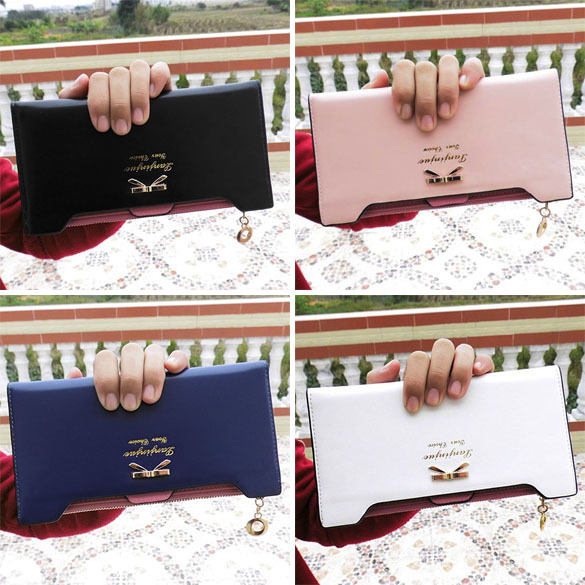 2015 New Beauty Lovely Lady Women Purse Long Zip Wallet PU Thin Card Holders CA1T(China (Mainland))