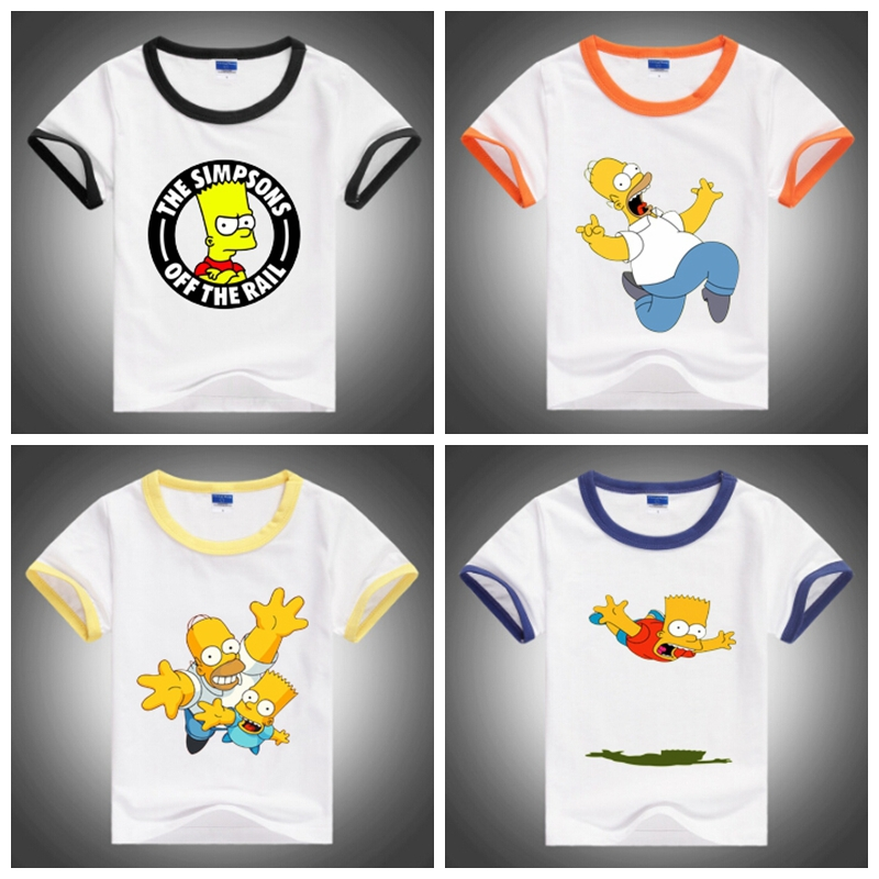 2015 New The simpsons cartoon children t shirt, high quality cotton children clothes, fashion kids clothing for 2-10 years<br><br>Aliexpress