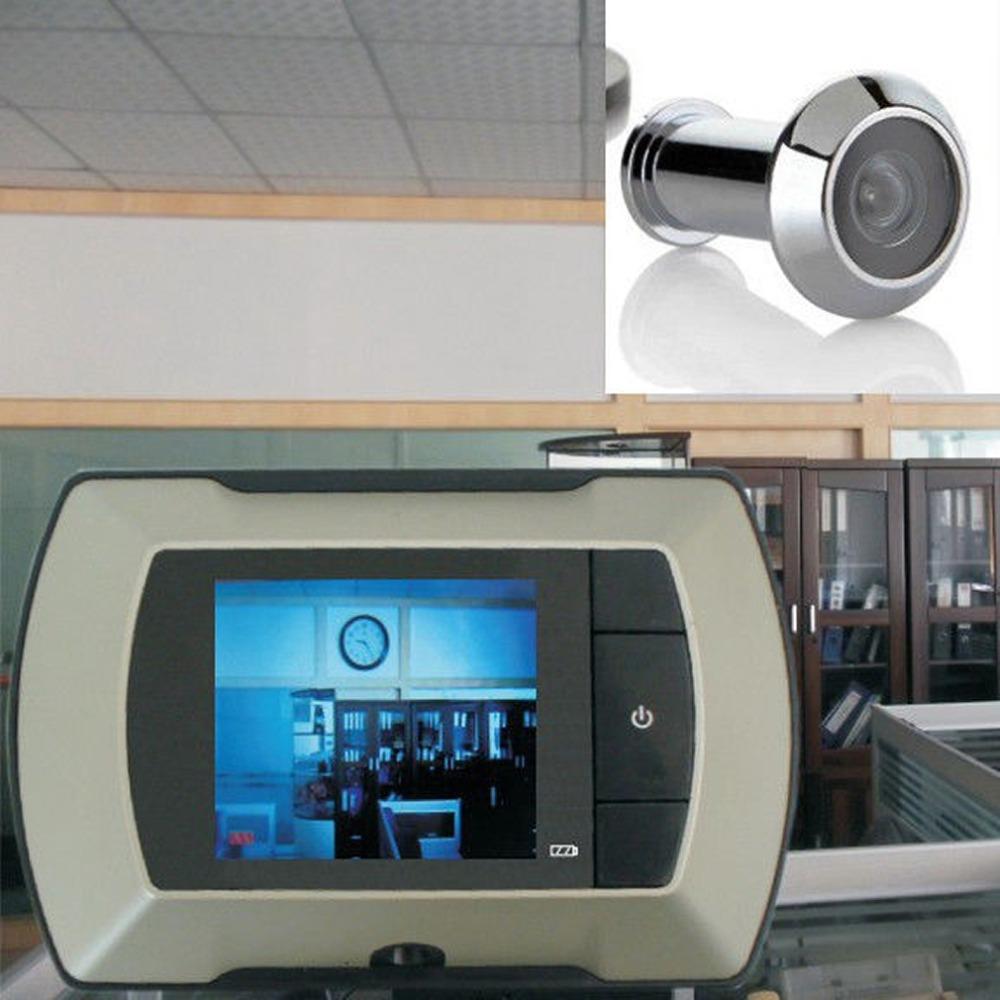 Гаджет  2015 High Resolution 2.4 inch LCD Visual Monitor Door Peephole Peep Hole Wireless Viewer Indoor Monitor Outdoor Video Camera DIY None Безопасность и защита