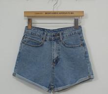 Women s casual fashion jeans shorts high waist cotton denim shorts for woman crimping thin short