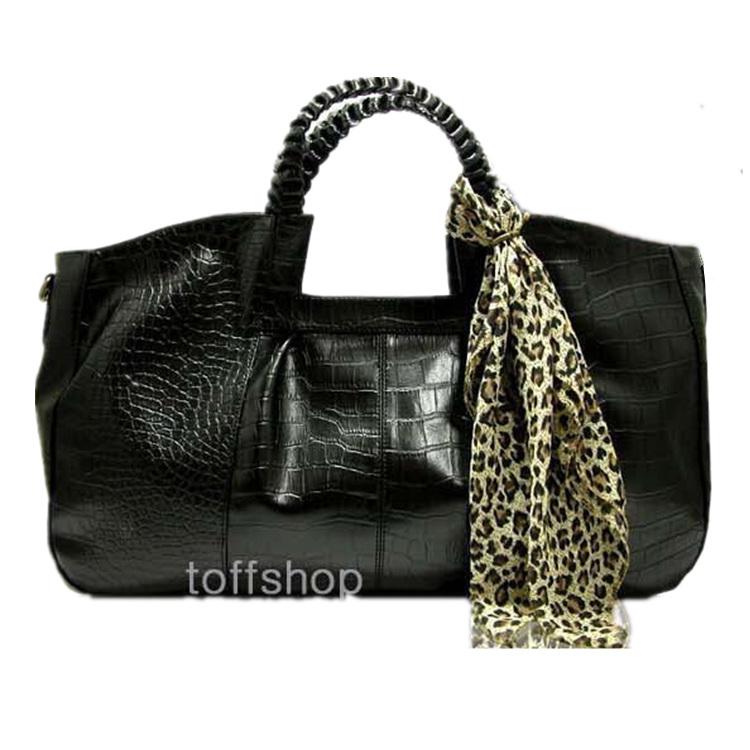 Clearance Vintage Crocodile Women Tote Bag Designer Shoulder Bag Famous Brand Messenger Bag Quality Ladies Handbags with Scarf(China (Mainland))
