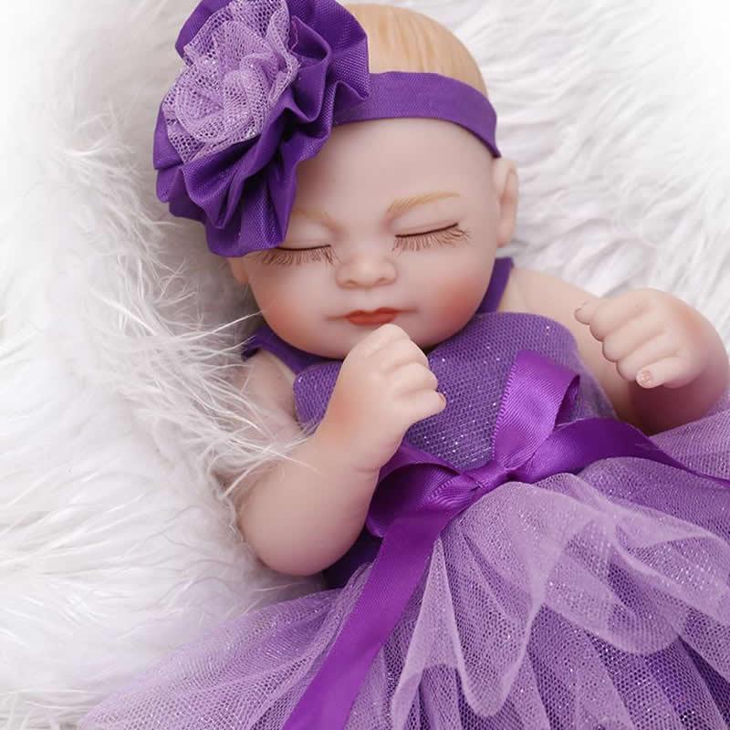 Asombroso Bebé Vestidos De Dama De Honor De La Muñeca Cresta ...