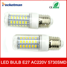 LED E27 E14 Bulb 220V SMD5730 lamp Spotlight 24LED 36LEDs,48LEDs,56LEDs,69LEDs bombillas led light - Rocketman Technology (China store Co., Ltd.)