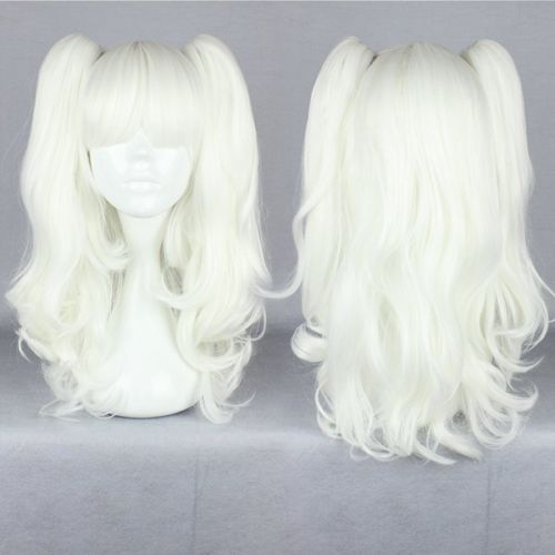 HOT sell Free Shipping &gt;&gt;&gt;New Gothic Lolita Wave Long Cosplay Wig White Two Ponytails<br><br>Aliexpress