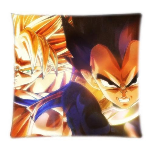 Anime Goku Dragon Ball Z Soft Zippered Pillowcase Rectangle Size 16x16,18x18,20x20,24x24 Inch Twin Sides Printing(China (Mainland))