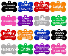 2pcs/lot Free Personalized engraving text  pet id tags dog cat tag dog identification customized name address telephone any text(China (Mainland))