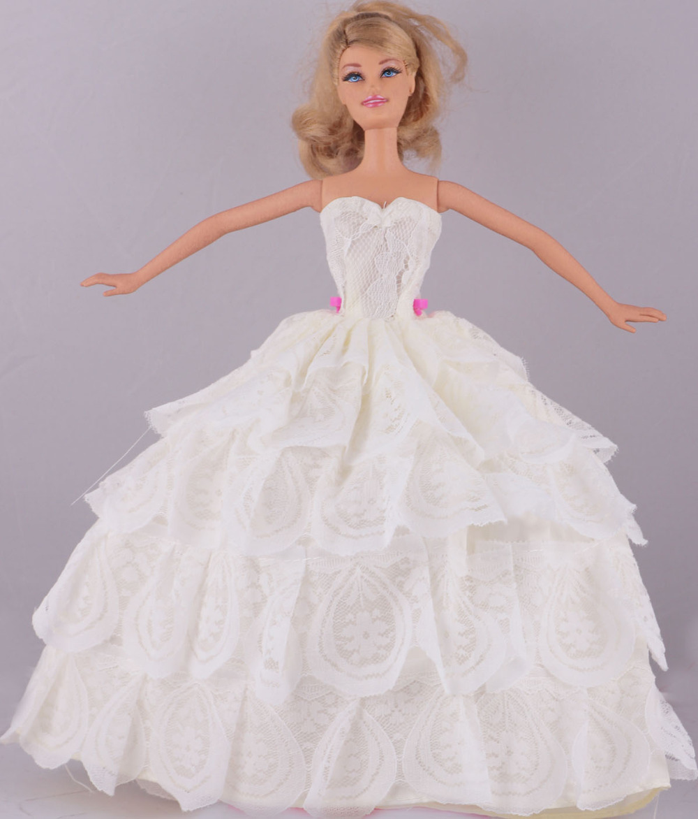 Barbie doll wedding dress promotion shop for promotional for Baby doll wedding dress bridal gown