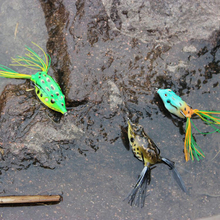 wobbler 5.5CM-12.5G Frog Fishing lures  Top water soft frog lure Fishing bait isca artificial wobbler