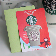 Free shipping Creative starbucks metal bookmark Collector's Edition,gift bookmark, office Articles10pcs/lot,wholesale(China (Mainland))