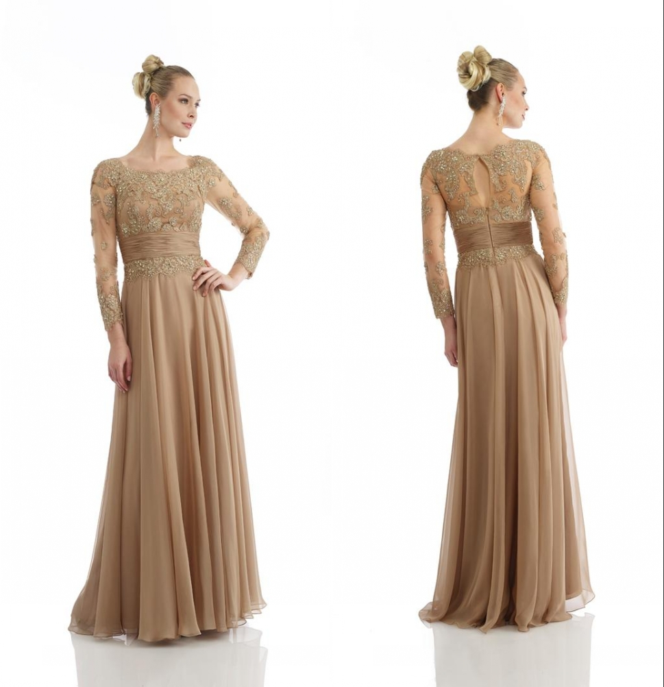 Gold Lace Dress Long Sleeve - Gowns and Dress Ideas