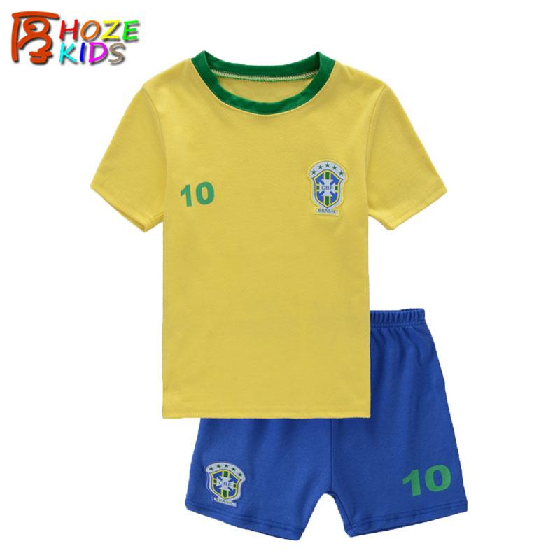 Пижама для мальчиков HOZE KIDS 2 100% 2T 3T 4 5 6 7 Soccer Clothing Sets 001