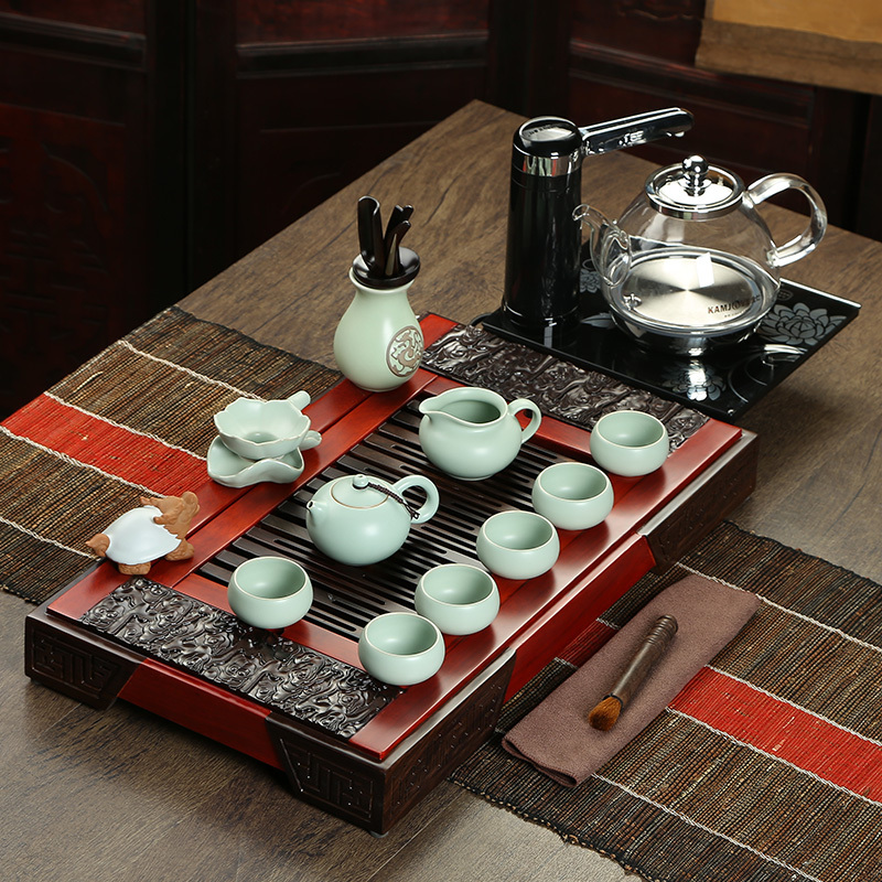 Здесь можно купить  Golden Trumpet rosewood tea tray entire kitchen opening film Ru -painted ceramic tea set new glass kettle a-90 Golden Trumpet rosewood tea tray entire kitchen opening film Ru -painted ceramic tea set new glass kettle a-90 Мебель