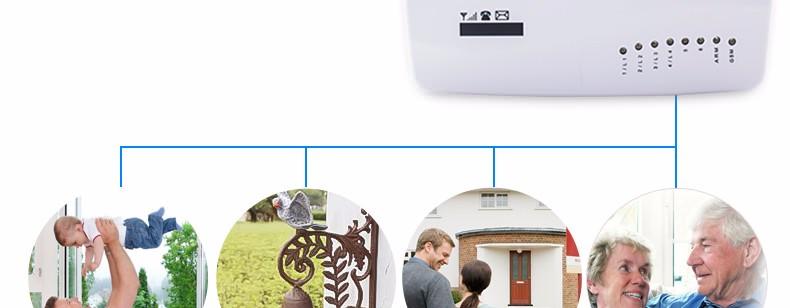 Купить GSM01 Беспроводной/проводной Телефон SIM GSM Домашняя Охранная GSM Сигнализация Английский Русский Spansih Голосовые Подсказки Сигнализация Датчик комплект