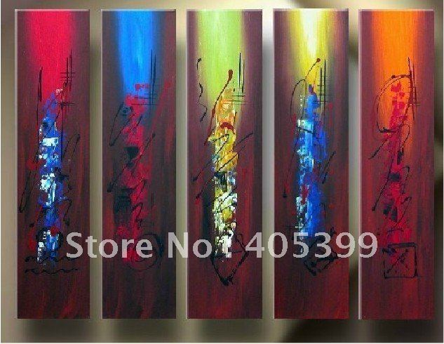 Free shipping ,5PCS  Modern Abstract Oil Painting on Canvas .Art Painting JYJLV221