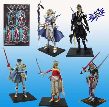 Free shipping 5pcs/set PVC Final Fantasy action figure toys tall 13cm set.Wholesale 3generation action figure toy.