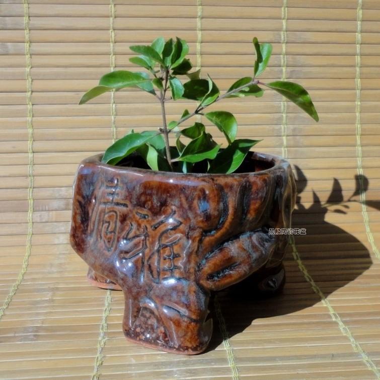 Fleshy flower implement high temperature ceramic flower pot uranium water flowerpot A three-legged tripod pot(China (Mainland))