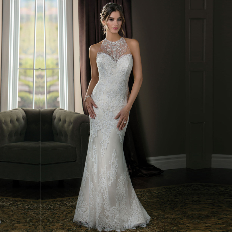 Backless halter wedding dresses the for Sexy backless wedding dress