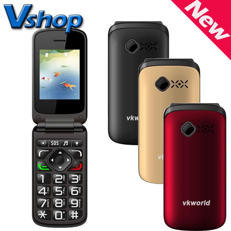 VKworld Z2 2.4 inch Large Button TFT Flip Elders Mobile Phone Dual SIM Card 0.3MP Camera FM Torch 800mAh Mini Phone(China (Mainland))