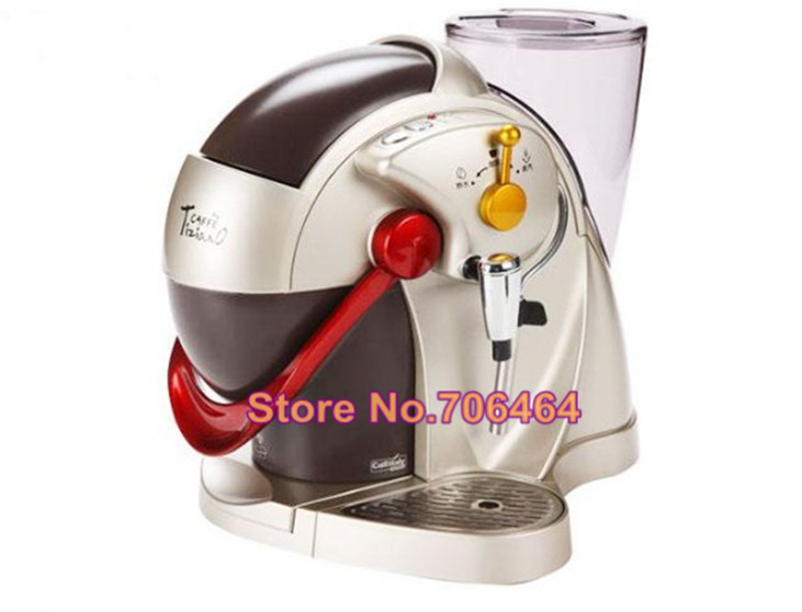 Fully automatic caffitaly capsule coffee machine Red espresso capsule coffee maker Latte cappuccino electric kitchen appliance(China (Mainland))