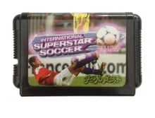 Sega 16bit MD games card: International Superstar Soccer Deluxe For 16 bit Sega MegaDrive Genesis game console