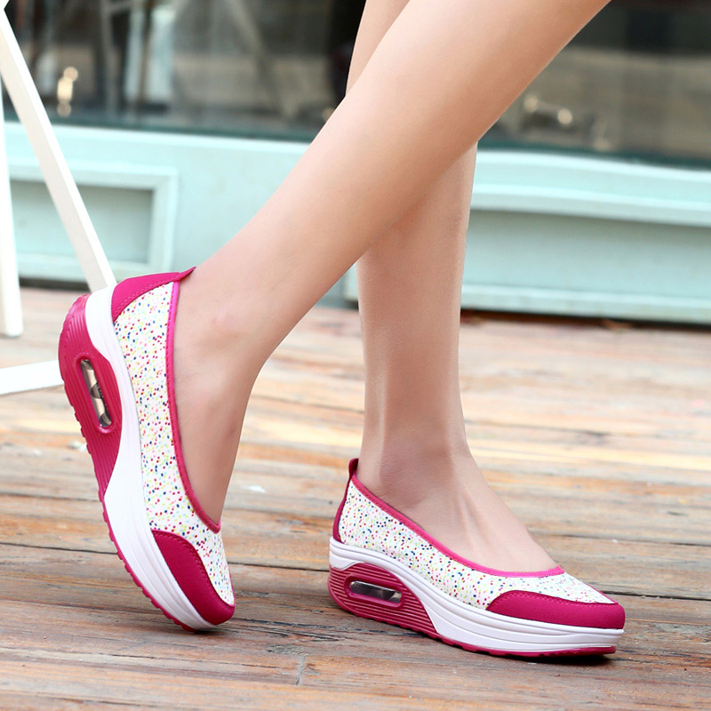 Shoes woman hot printing breathable mesh platform shoes women casual shoes(China (Mainland))