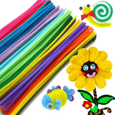 2015 hot  Color Chenille Stems Pipe Cleaners Kindergarden DIY Handicraft Materials for Creative Kids Education Toys 50pcs/pack