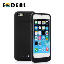 3800mAh Rechargeable Backup External Battery Charger Power Bank Pack Shockproof Protective Case Cover for iPhone 6 6s 4.7inch(China (Mainland))