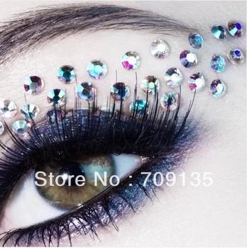 Free shipping 10pairs/lot fashion eye rock Rhinstone Glitter eye shadow stickers