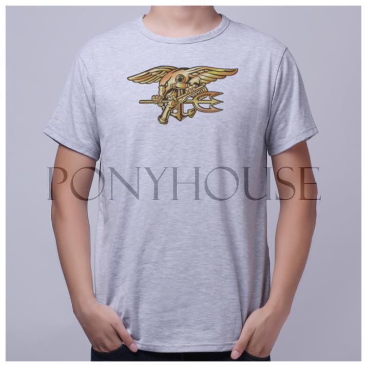 NAVY SEAL short sleeve T-shirt Top Lycra Cotton Men T shirt New DIY Style(China (Mainland))