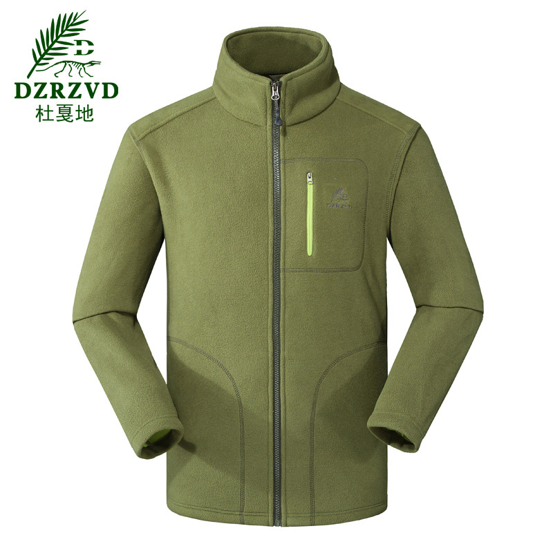 Lovers fleece clothing thickening windproof thermal 300g polar fleece outdoor clothing fabric male camping hiking jacket