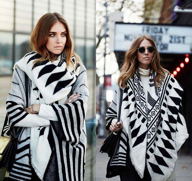 2016 женщин бренд шарф высокое качество двусторонняя двойной цвет национальной печать мыс толстые теплые плед кашемировые шали