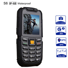 XENO S6 IP67 Waterproof Phone 2500mAh Battery Long Standby Loud Sound Shockproof Outdoor Phone Old Man Elder Phone Russian(China (Mainland))