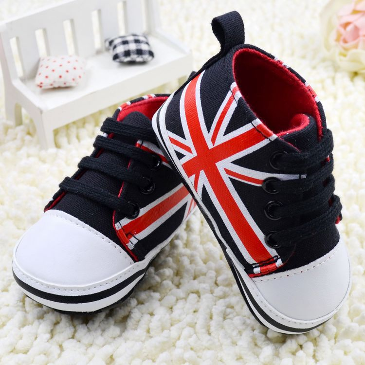 baby shoes first walkers brand free shipping boy shoes sports American flag pattern kid's casual shoes