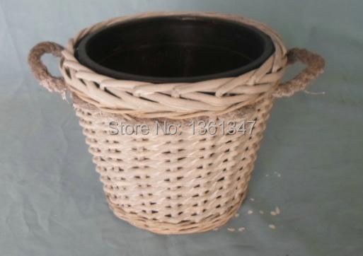 Willow flower pot.(China (Mainland))