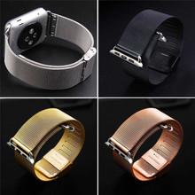 Original Milanese Loop strap Link Bracelet Stainless Steel band for apple watch 42mm 38mm Watchband