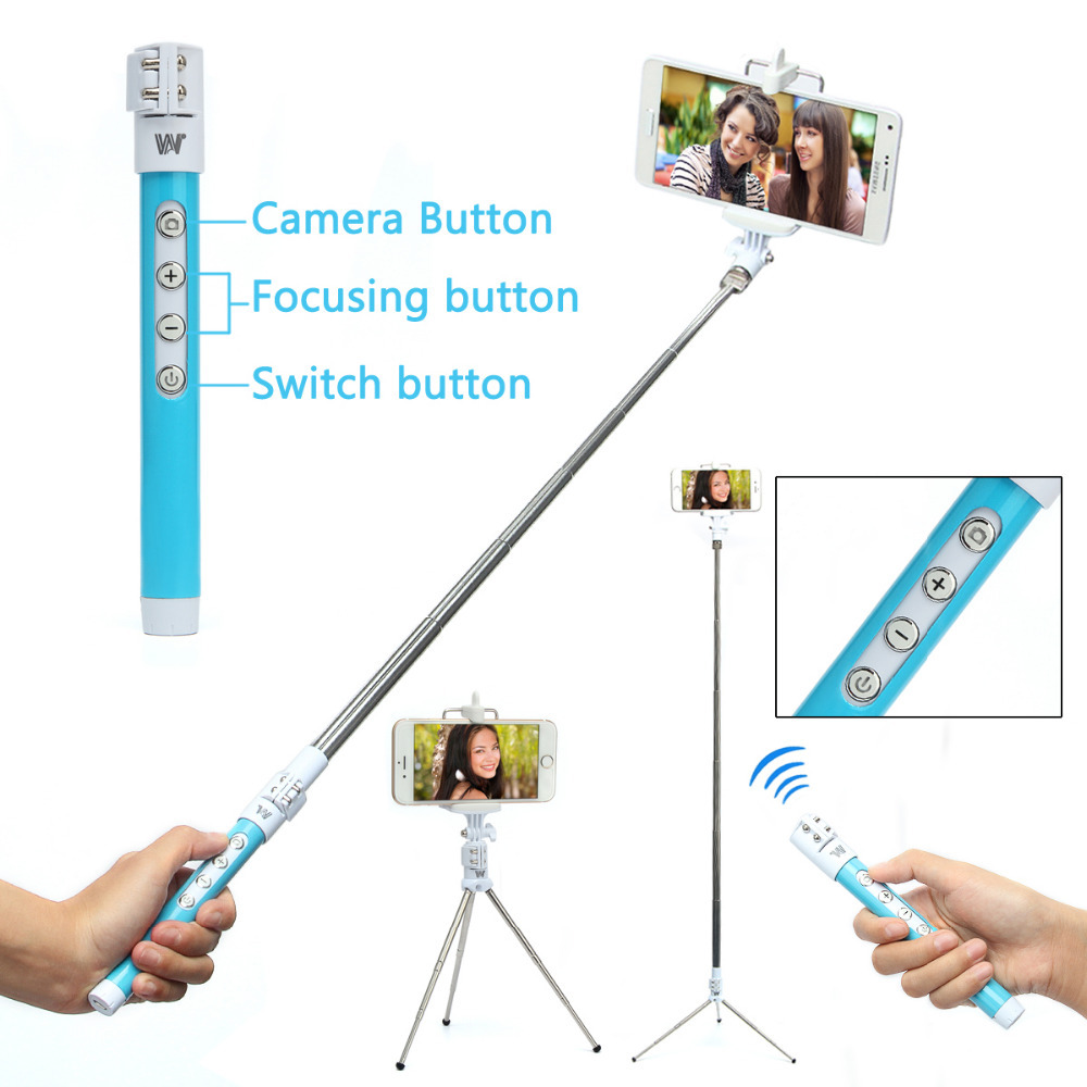 buy handheld monopod selfie stick tripod bluetooth shutter remote for iphone 6s. Black Bedroom Furniture Sets. Home Design Ideas