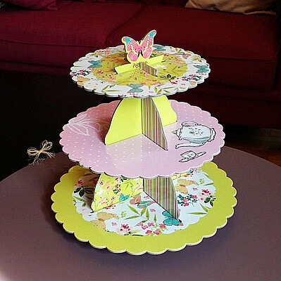 Free shipping butterfly decoration cupcake stand cake ...