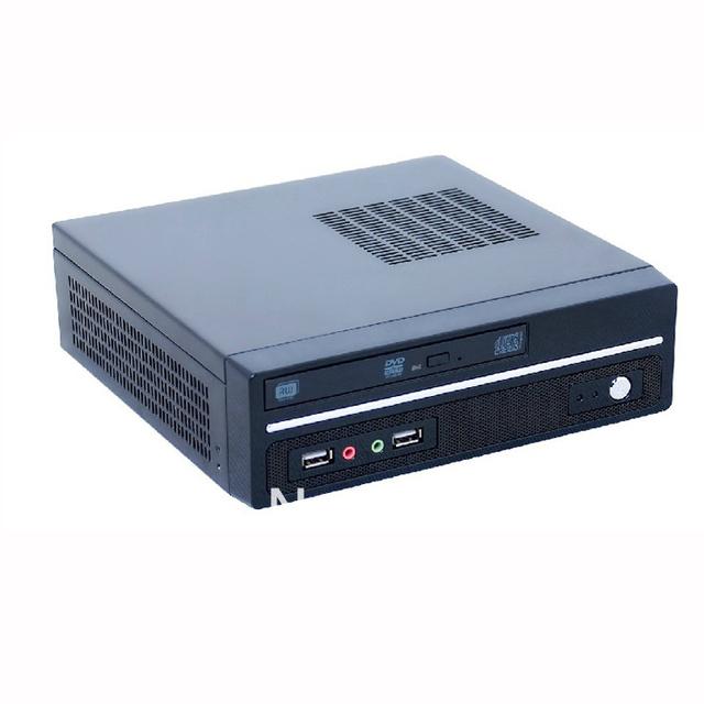U.S. version Mini-ITX mainboard small chassis ion platform E350 Mini HTPC Car PC Black 1037U small empty chassis