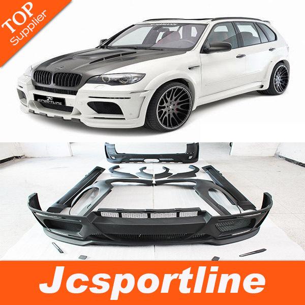 Top Quality FRP E70 X5 upgrade HM styling car body kit for BMW,auto body bumper kits fit E70 X5(2008-2013)(Hong Kong)