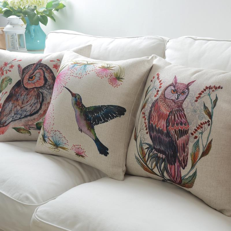 wholesale nordic simple cushions for sofas hand painted cushions home decor animal owl decorative cushion covers free shipping owl stuff owl stuff