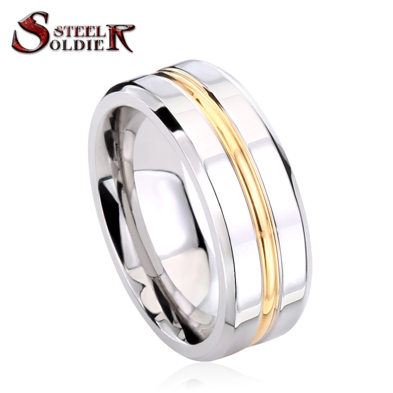 steel soldier fashion electroplate gold stainless