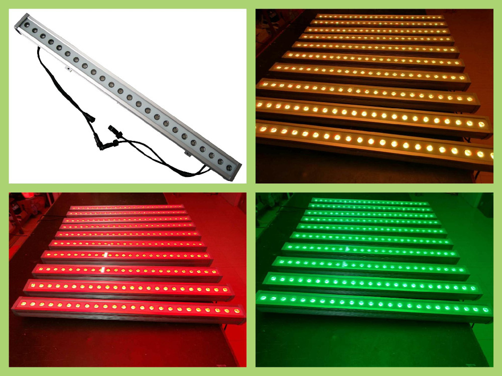 4pcs/lot,24x3W Tri-RGB LED Wall Washer Light waterproof DMX RGB Led Bar Home Party Lighting Led Wash(China (Mainland))