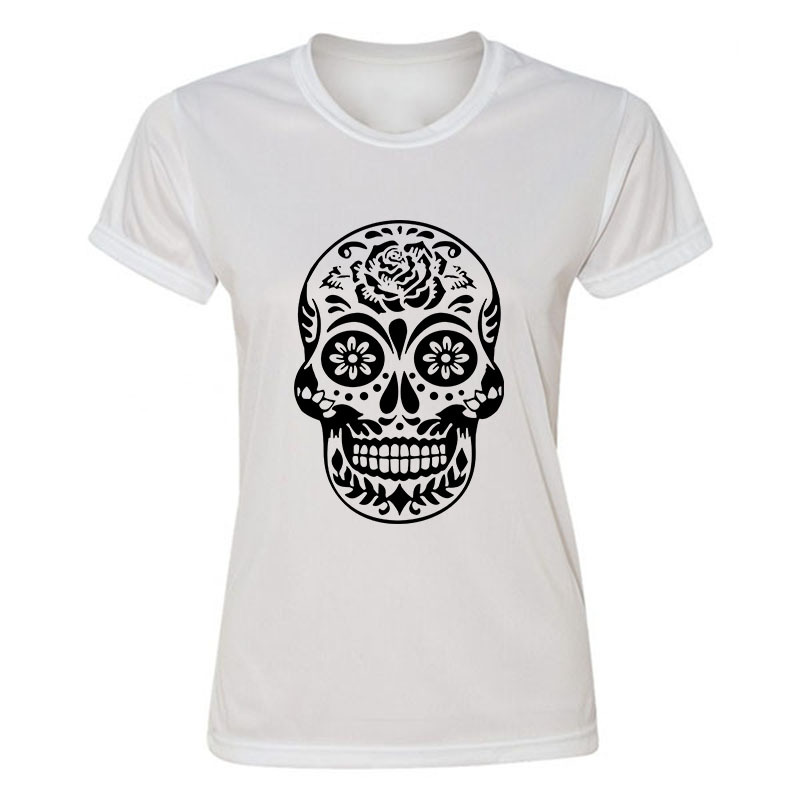 High quality new skull t shirt 100 cotton women t shirt Bulk quality t shirts