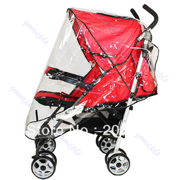 D19 Universal Waterproof Rain Cover Wind Shield Fit Most Strollers Pushchairs Buggys Free Shipping