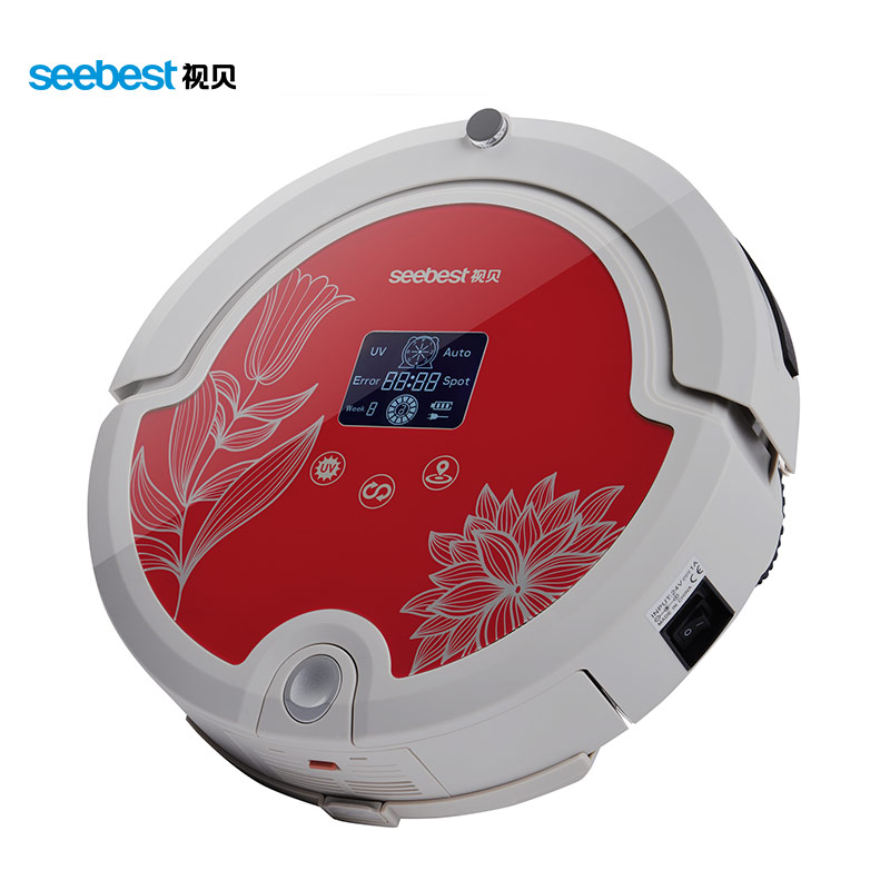 Seebest C571 Hot Sales Aspirador and Auto Recharge Robotic Vacuum Cleaner, Rolling Brushes and Vacuum(China (Mainland))